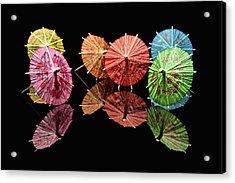 Cocktail Umbrellas II Acrylic Print by Tom Mc Nemar