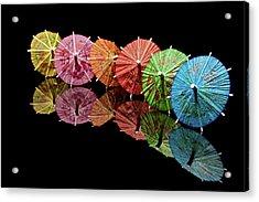 Cocktail Umbrellas IIi Acrylic Print by Tom Mc Nemar