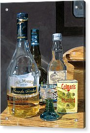 Acrylic Print featuring the painting Cocktails And Mustard by Lynne Reichhart