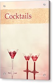 Cocktails At The Bar Acrylic Print