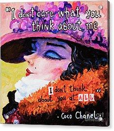 Coco Chanel Acrylic Print by Igor Postash