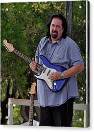 Coco Montoya And His Ocean Blue Fender American Standard Stratoc Acrylic Print
