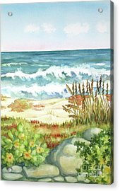 Acrylic Print featuring the painting Cocoa Beach Afternoon by Inese Poga