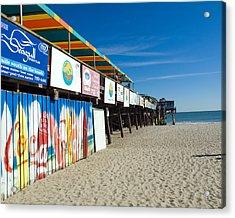 Cocoa Beach Flotida Acrylic Print by Allan  Hughes