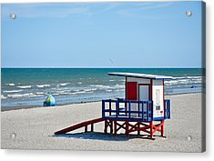 Cocoa Beach - Life Guard Shack - Florida Acrylic Print by Greg Jackson