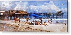 Cocoa Beach Pier Acrylic Print by Francesa Miller