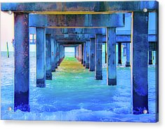 Cocoa Pier Acrylic Print by Pamela Williams