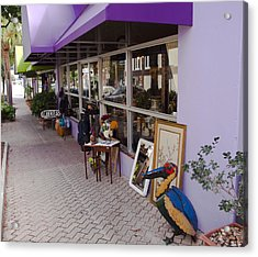 Cocoa Village In Florida Acrylic Print by Allan  Hughes