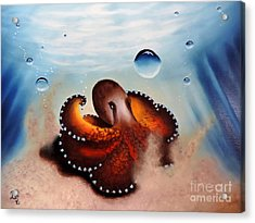 Coconut Octopus Acrylic Print