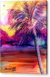 Coconut Palm Tree 2 Acrylic Print by Marionette Taboniar