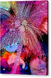 Acrylic Print featuring the painting Coconut Palm Tree 4 by Marionette Taboniar