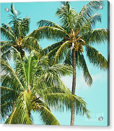Acrylic Print featuring the photograph Coconut Palm Trees Sugar Beach Kihei Maui Hawaii by Sharon Mau