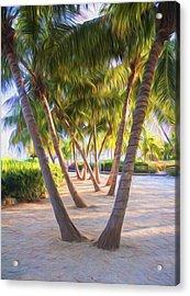 Coconut Palms Inn Beachfront Acrylic Print