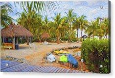 Coconut Palms Inn Beach Acrylic Print