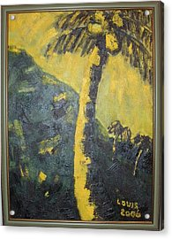 Coconut Tree Acrylic Print by Louis  Stephenson