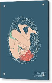 Cocoon Acrylic Print by Freshinkstain