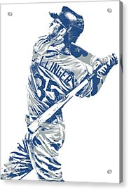 Cody Bellinger Los Angeles Dodgers Pixel Art 10 Acrylic Print
