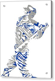 Cody Bellinger Los Angeles Dodgers Pixel Art 2 Acrylic Print