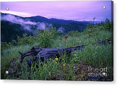 Coeur D'alene Mountains Acrylic Print by Idaho Scenic Images Linda Lantzy