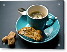 Coffee And Biscotti Acrylic Print