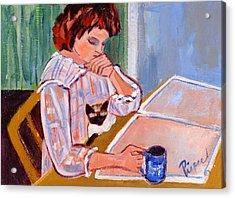 Coffee And Cat Acrylic Print