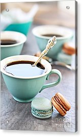Coffee And Macarons Acrylic Print by Stephanie Frey