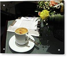 Coffee Break Acrylic Print by Graham Taylor