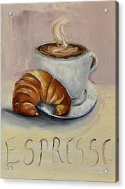 Acrylic Print featuring the painting Coffee Break by Lindsay Frost