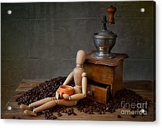 Coffee Break Acrylic Print by Nailia Schwarz