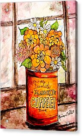 Coffee Can Bouquet  Acrylic Print