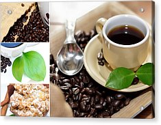 Coffee Collage  Acrylic Print by Serena King