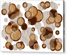 Coffee Colored Circles Acrylic Print