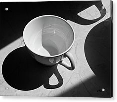 Coffee Cup In Light And Shadow Acrylic Print