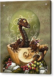 Coffee Dragon Acrylic Print by Stanley Morrison