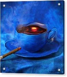 Coffee For Mister Klein Acrylic Print by Floriana Barbu