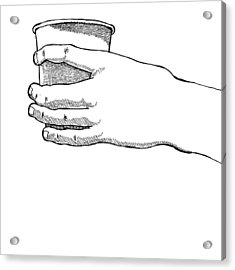 Coffee Hand Acrylic Print by Karl Addison
