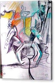Coffee House Jazz Acrylic Print by Jamey Balester