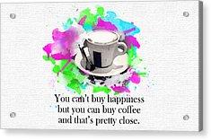 Coffee Is True Love Acrylic Print