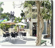 Coffee Lover's Expresso Bar At The Moll Boscana Town Square Acrylic Print
