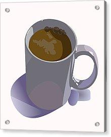Coffee Mug Acrylic Print by Robert Bissett