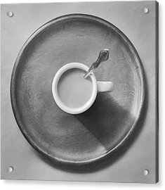 Coffee On A Wooden Tray Acrylic Print by Scott Norris