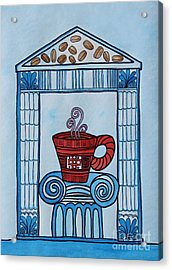 Coffee Palace Blue Acrylic Print by Norma Appleton