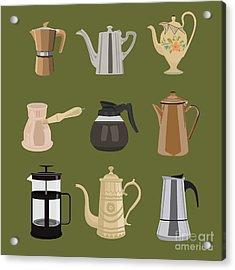 Coffee Pots Acrylic Print