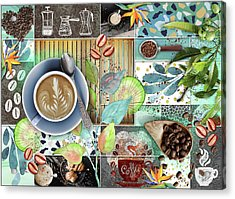Coffee Shop Collage Acrylic Print