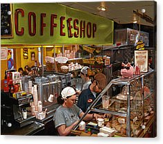 Coffee Shop Acrylic Print by Ted Papoulas
