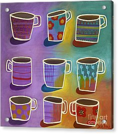 Acrylic Print featuring the painting Coffee Time by Carla Bank