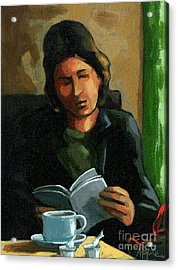 Coffee Time Acrylic Print by Linda Apple