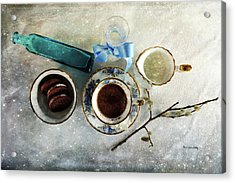 Coffee View Acrylic Print by Randi Grace Nilsberg