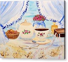 Coffee With Grandma Acrylic Print