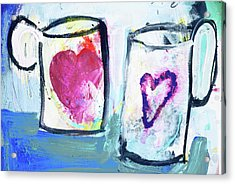 Coffee With Love Acrylic Print by Amara Dacer